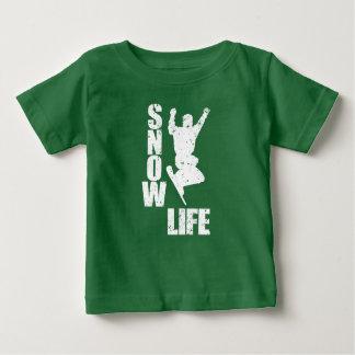Camiseta Para Bebê VIDA #3 da NEVE (branca)