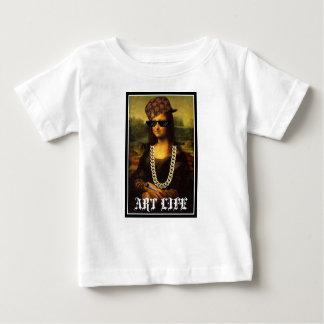 Camiseta Para Bebê Vida da arte da vida do vândalo de Mona Lisa