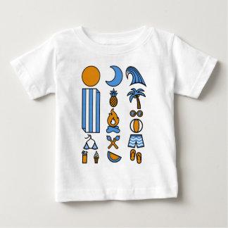 Camiseta Para Bebê Vida da praia do verão