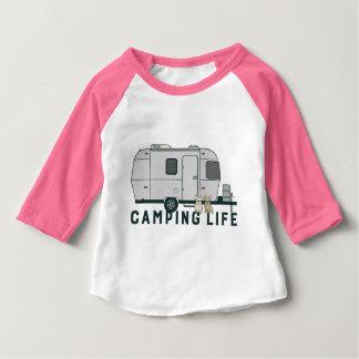 Camiseta Para Bebê Vida de acampamento feliz com Frenchies bonitos