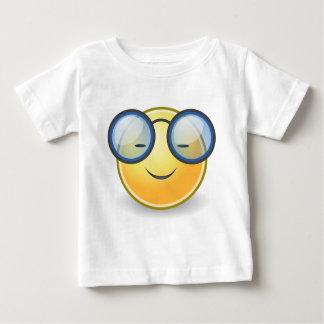 Camiseta Para Bebê Vidros alaranjados espertos do smiley