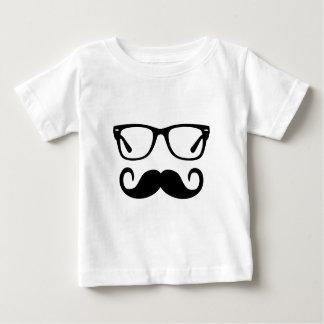 Camiseta Para Bebê Vidros do hipster & bigode do guiador