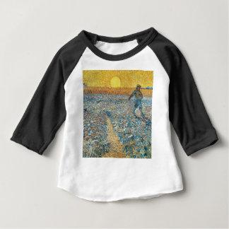 Camiseta Para Bebê Vincent van Gogh a arte da pintura do Sower