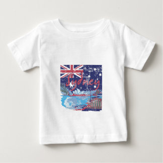 Camiseta Para Bebê vintage Austrália de sydney
