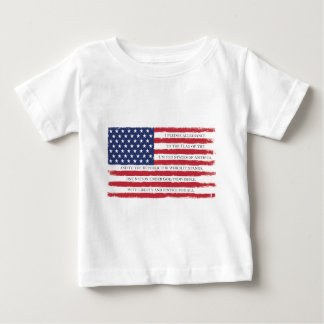 Camiseta Para Bebê Vintage da garantia da bandeira americana