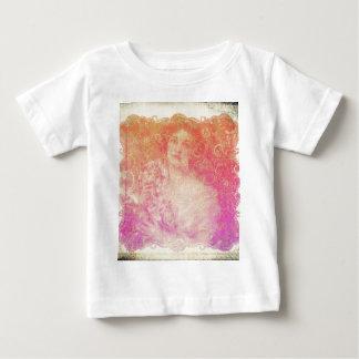 Camiseta Para Bebê Vintage, époque do belle, senhora bonita,