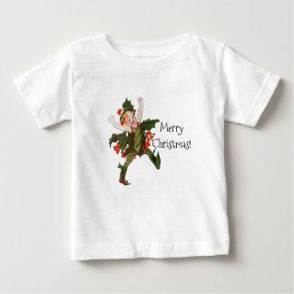Camiseta Para Bebê Vintage floral engraçado da criança de flor do