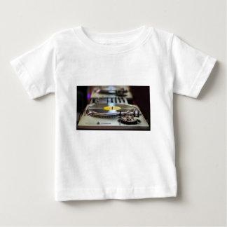 Camiseta Para Bebê Vintage retro gravado plataforma giratória do som
