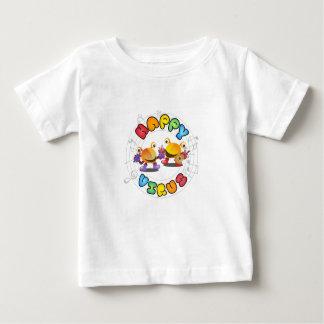 Camiseta Para Bebê Vírus feliz - miúdo