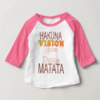 Camiseta Para Bebê Visão seu design Hakuna Matata
