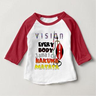 Camiseta Para Bebê Visão todos Jamaica Hakuna Matata