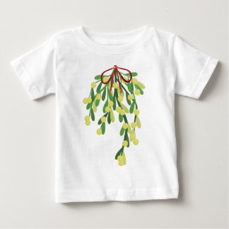 Camiseta Para Bebê visco vermelho do xmas