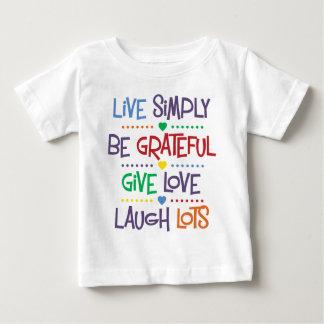 Camiseta Para Bebê Viva simplesmente
