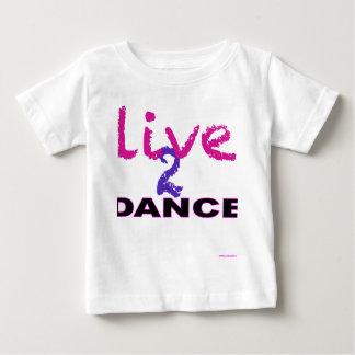 Camiseta Para Bebê Vive a dança 2