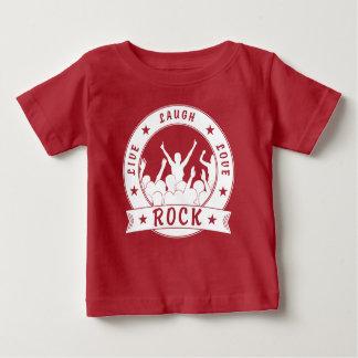 Camiseta Para Bebê Vive a ROCHA do amor do riso (branca)