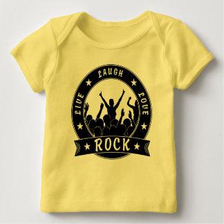 Camiseta Para Bebê Vive a ROCHA do amor do riso (o preto)