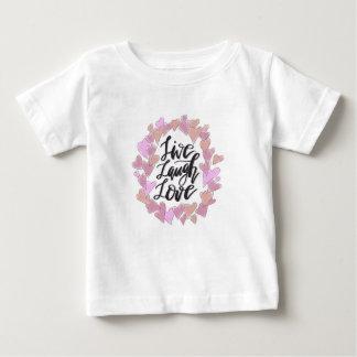 Camiseta Para Bebê Vive o amor do riso