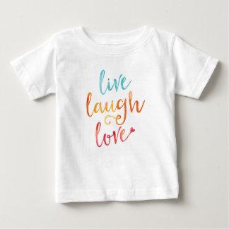 Camiseta Para Bebê Vivo, riso, aguarela do amor caçoa o t-shirt