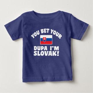 Camiseta Para Bebê Você aposta seu Dupa que eu sou eslovaco