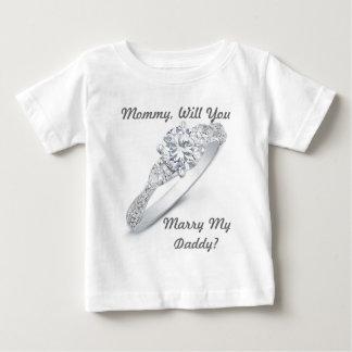 Camiseta Para Bebê Você casar-me-á?