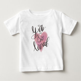 Camiseta Para Bebê Você é assim que amado