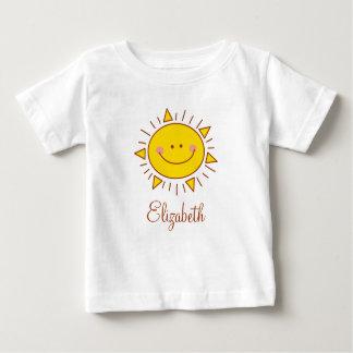 Camiseta Para Bebê Você é meu dia ensolarado do smiley bonito feliz