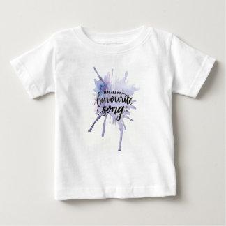 Camiseta Para Bebê Você é minha canção favorita