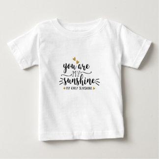 Camiseta Para Bebê Você é minha luz do sol