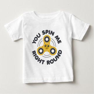 Camiseta Para Bebê Você gira o círculo direito