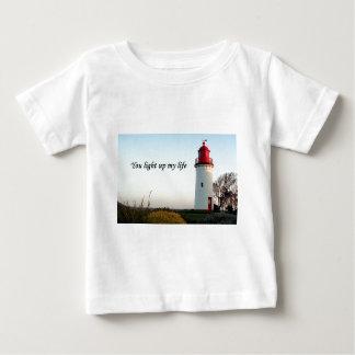 Camiseta Para Bebê Você ilumina acima minha vida: farol