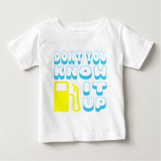 Camiseta Para Bebê Você não sabe a bomba ele acima