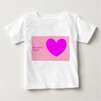"""Camiseta Para Bebê """"Você será meus namorados?"""" T-shirt do bebê"""