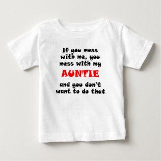 Camiseta Para Bebê Você suja com meu Auntie