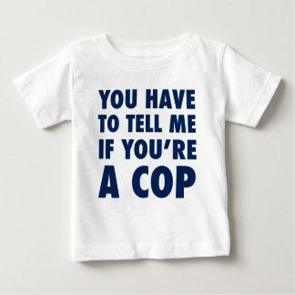 Camiseta Para Bebê Você tem que dizer-me se você é um chui
