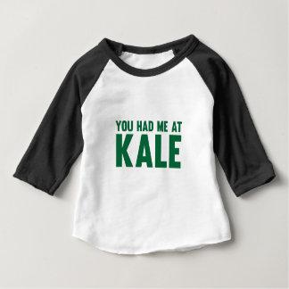 Camiseta Para Bebê Você teve-me na couve