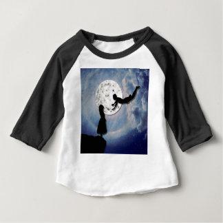 Camiseta Para Bebê voe-me ao universo do corte do papel da lua