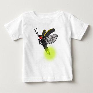 Camiseta Para Bebê vôo 2 do inseto de relâmpago iluminado