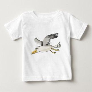 Camiseta Para Bebê vôo da gaivota dos desenhos animados aéreo
