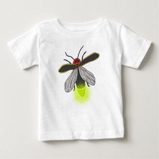 Camiseta Para Bebê vôo do inseto de relâmpago iluminado