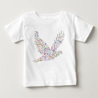 Camiseta Para Bebê Vôo do pássaro da paz na harmonia e na cooperação