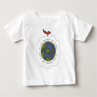Camiseta Para Bebê Voo em todo o mundo
