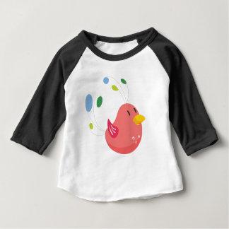 Camiseta Para Bebê vôo pequeno bonito do pássaro e canto
