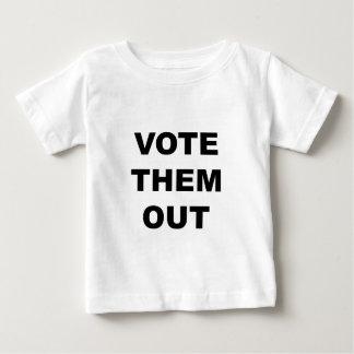 Camiseta Para Bebê Vote-os para fora