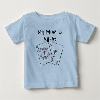 Camiseta Para Bebê W.W.P. azul Criança T-shirt