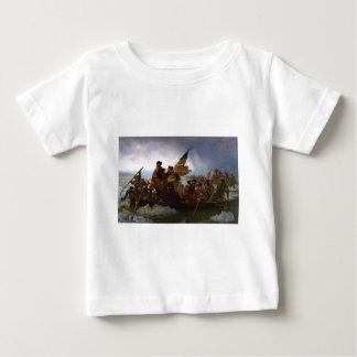 Camiseta Para Bebê Washington que cruza arte do vintage do Delaware -