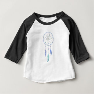 Camiseta Para Bebê Watercolour Dreamcatcher com 3 penas