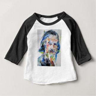 Camiseta Para Bebê watts de alan - aguarela portrait.3