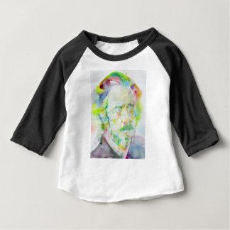Camiseta Para Bebê watts de alan - retrato da aguarela
