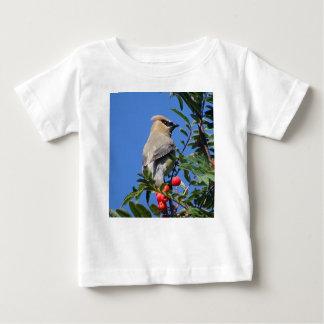 Camiseta Para Bebê Waxwing de cedro