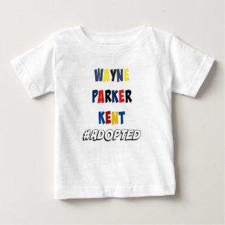 Camiseta Para Bebê Wayne, Parker, Kent #Adopted a adopção dos
